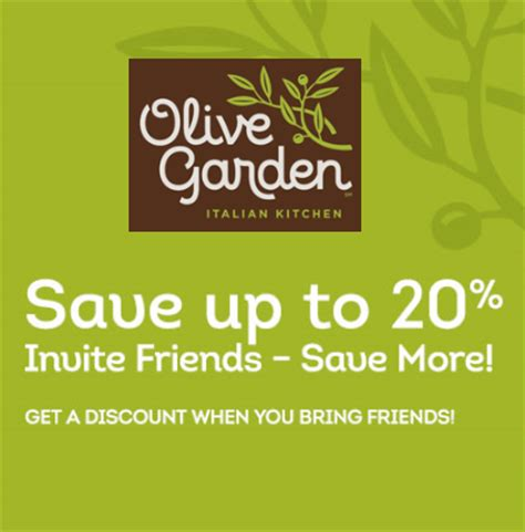 Olive Garden 2 For 20 by Olive Garden Coupon Up To 20 Who Said Nothing In