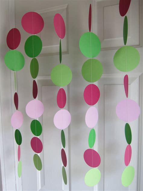 Baby Shower Decorations Pink And Green by Paper Garland Green And Pink Pink And Green Decorations