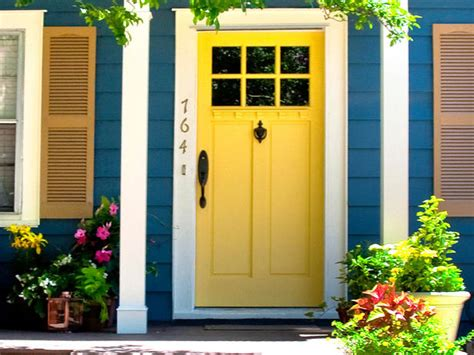 yellow front door yellow hgtv design blog design happens