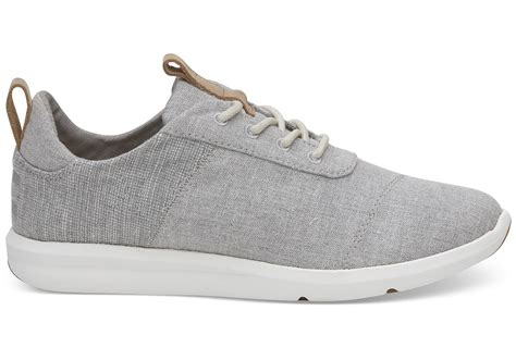 sneakers that look like dress shoes drizzle grey chambray mix s cabrillo sneakers toms 174