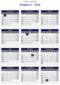 Calendar 2018 Singapore With Holidays Singapore 2018 Printable Calendar 171 Printable Hub