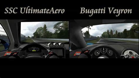 bugatti vs ultimate aero nurburgring handling test bugatti veyron vs ssc ultimate