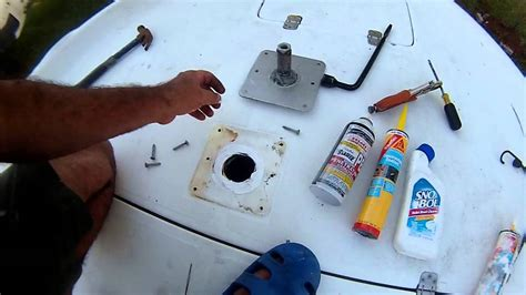 how to install boat seat pedestal base boat pedestal repaire youtube