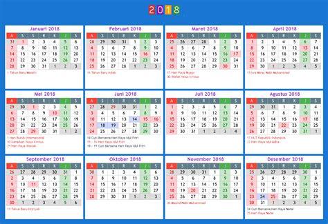 kalender 2018 indonesia ferien feiertage excel pdf
