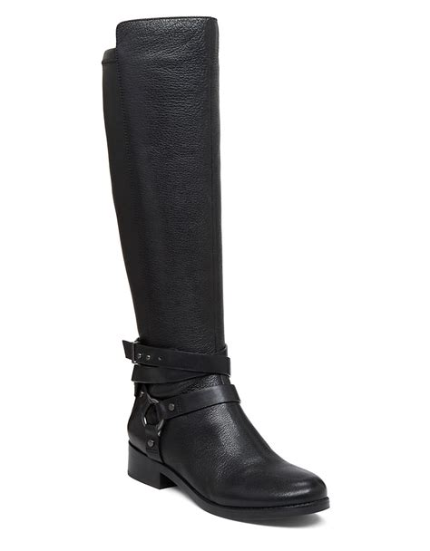 bcbgeneration boots bcbgeneration knee high leather boots in black lyst