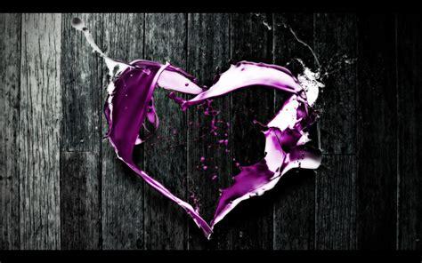 purple heart abstract art hd wallpaper love wallpapers