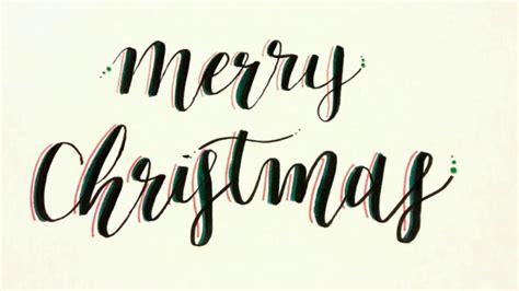 merry christmas calligraphy timelaspe youtube