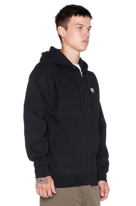 Jaket Baju Hangat Zipper Switer Hoodie Obey obey collegiate reflective 2 zip hoodie in black for lyst