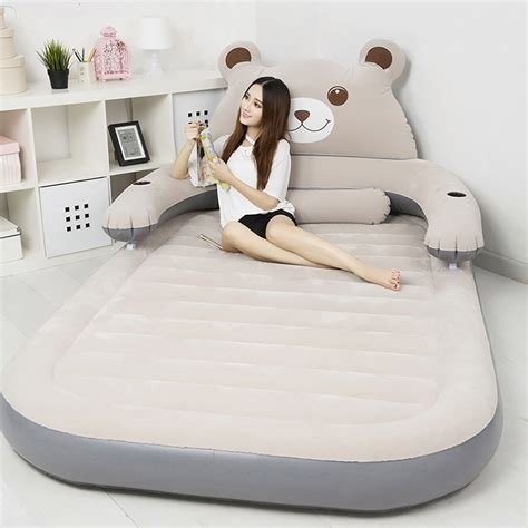 portable themed air mattress with detachable backrest changing products