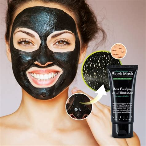 shills deep cleansing purifying peel  black face mask