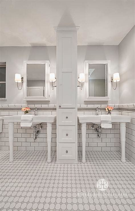 Grey And White Tiles Bathroom by White And Grey Bathroom Tiles Transitional Bathroom