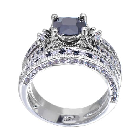 Top 10 Gorgeous Affordable Rings by Aliexpress Buy Gorgeous Black Sapphire Ring