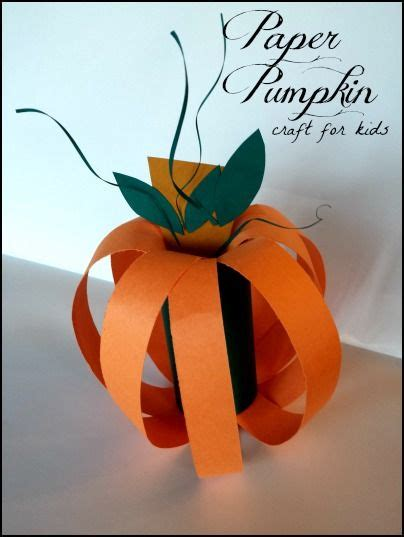 Paper Pumpkin Craft - paper pumpkin craft for primary and craft ideas