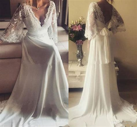 Discount Greek Style Lace Chiffon Country Wedding Dresses