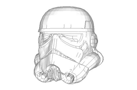 Stormtrooper Papercraft Helmet - wars episode iv a new size stormtrooper