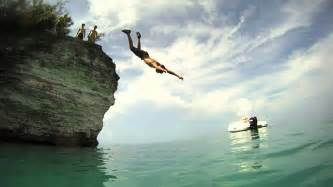 Cliff Jumping Bermuda Cliff Jumping Gopro Hd
