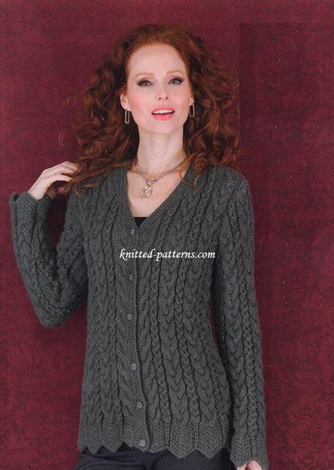 knitting pattern website ravelry wavy edge cardigan pattern by gayle bunn
