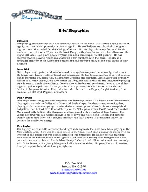 professional bio template word best photos of bio template word biography template word
