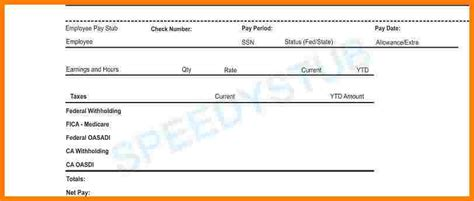 5 Pay Stub For 1099 Sles Of Paystubs 1099 Check Stub Template