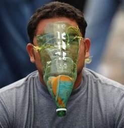 gas mask chicken crap