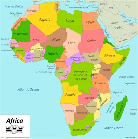 africa map maps  africa
