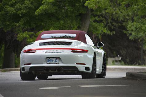 porsche 911 gts cabriolet 2017 porsche 911 4 gts cabriolet review trackworthy