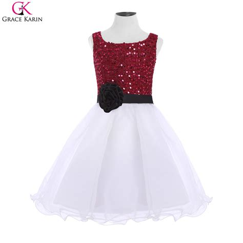 Fh Dress Kid Carista Maroon Kid grace karin pageant dresses for prom dress formal evening gowns sequin