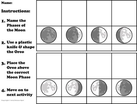 Moon Phases Worksheet Answers by Moon Phases By Sciencespot Teaching Resources Tes