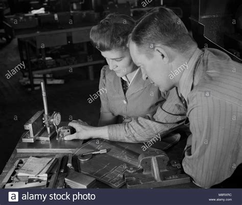 1940 S Female Factory Workers Stock Photos Amp 1940 S Female