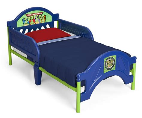 plastic toddler bed ninja turtles child boys bedroom