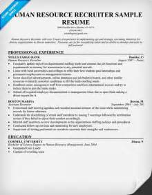 recruiter cover letter exles resume exle 57 recruiter resume sle recruiter