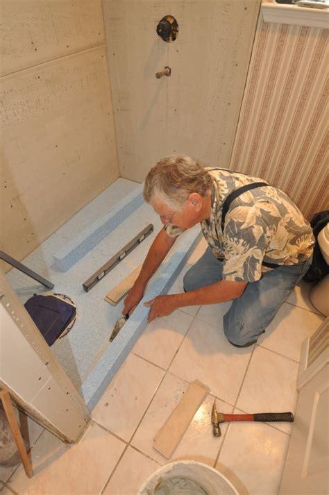 durock tile shower system with tileware fixtures tile