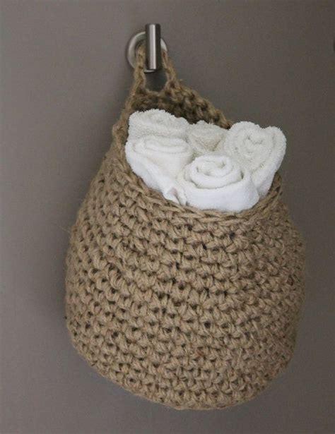 crochet jute bag pattern 66 best images about crochet baskets storage on