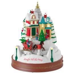 hallmark santa s musical christmas clock with motion and