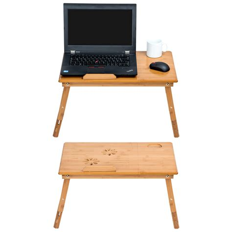 Folding Laptop Desk Notebook Computer Tablet Table Tray Laptop Desk With Cooling Fan