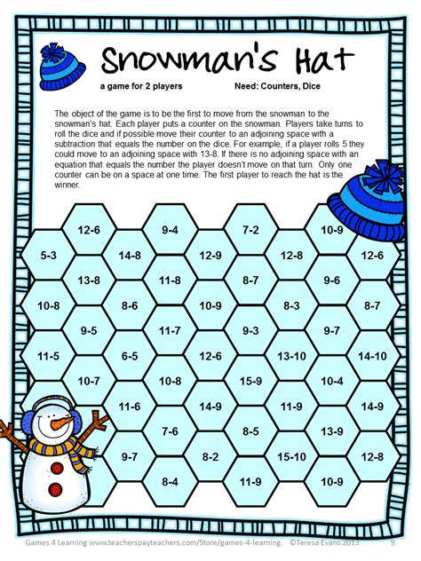 printable long division games fun games 4 learning snowman math bump games freebies