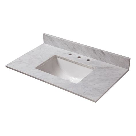 marble sink tops home decorators collection 31 in w marble vanity top in