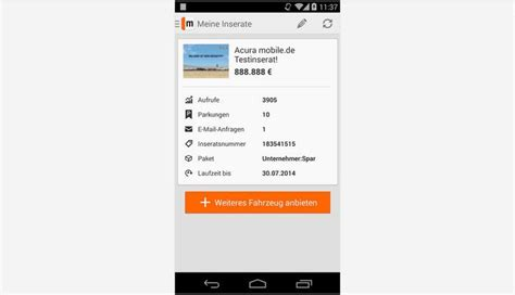 Auto Kaufen App by Mobile De App Freeware De