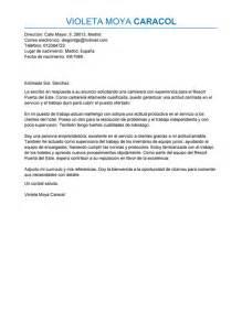 Curriculum Vitae In Italiano by Modelo De Carta De Presentaci 243 N Camarero Camarero