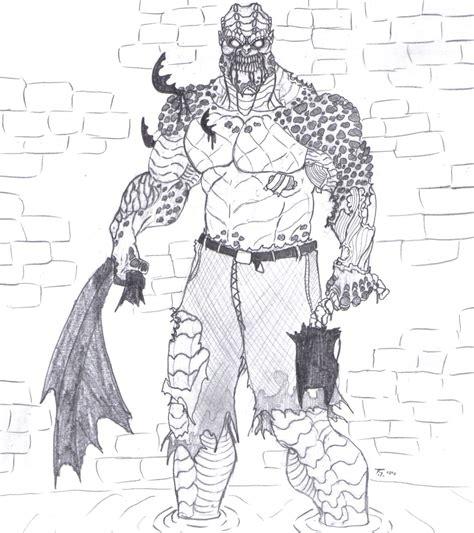 zombie batman coloring page killer croc zombie by bender18 on deviantart