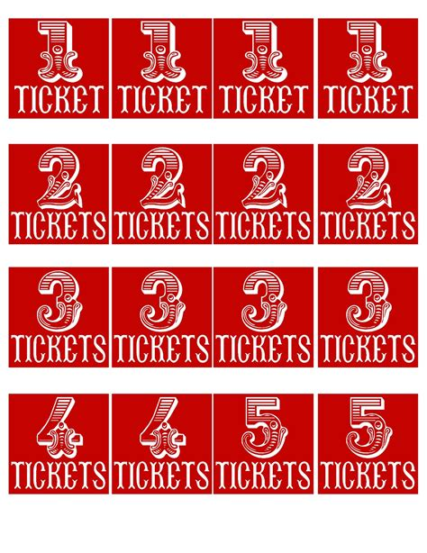 printable prize tickets the red balloon carnival printables revisited vintage
