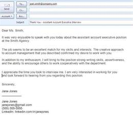 Thank You Letter After Meeting With Human Resources Best Formats For Sending Job Search Emails Interview