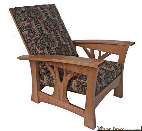 custom made arbor bow arm morris chair with celtic knot