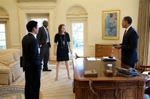 Obama Feet On Desk File Barack Obama Eugene Kang Katie Johnson And Reggie