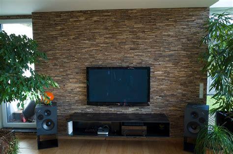 holzriemchen wand verblender wohnzimmer grau