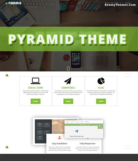 weebly theme pyramid responsive weebly template roomy