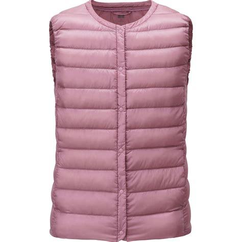 ultra light down vest uniqlo women ultra light down compact vest in pink lyst