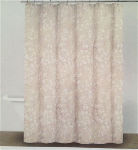 shower curtain beige buy nicole miller fabric shower curtain white floral on