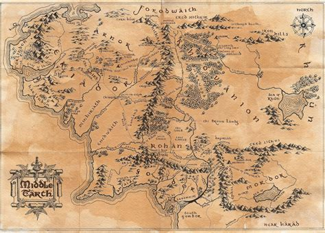 lord of the rings middle earth map what is the most agreed upon map of middle earth and