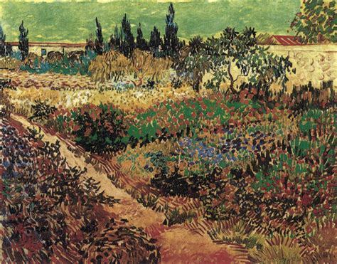 Flowering Garden With Path By Gogh Vincent Van Gogh Flowering Garden